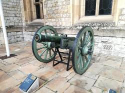 French Bronze 6 pounder cannon
