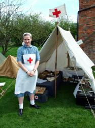 A WW2 Red Cross aid post
