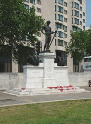 Machine Gun Corps Monument, Hyde Park Corner, London.